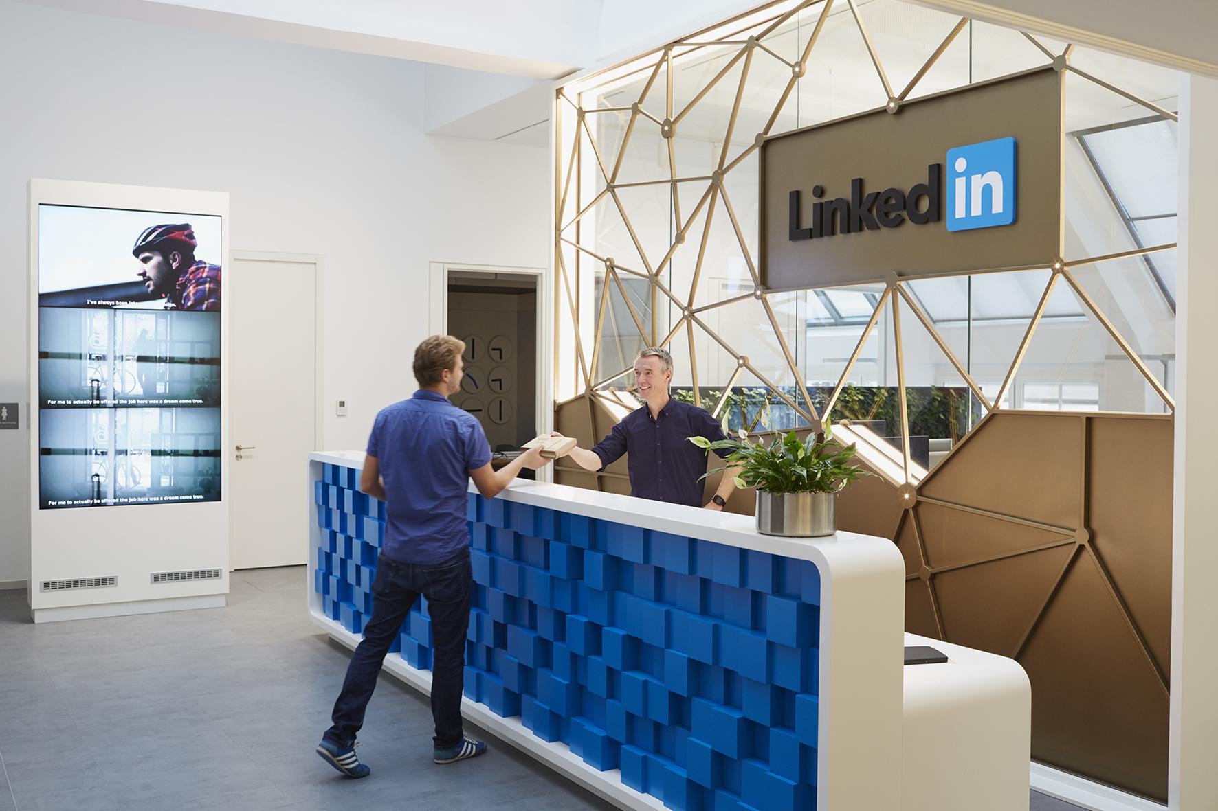 Eingangsbereich von Linkedin